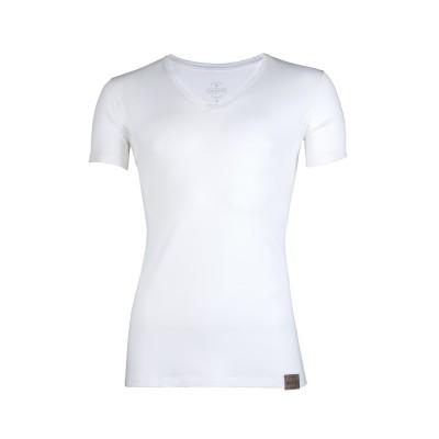 RJ Bodywear Good Life Men Deep V Shirt White