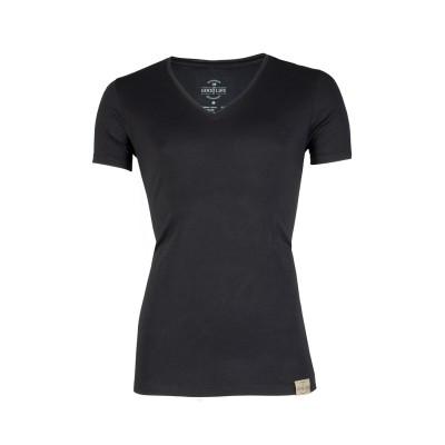RJ Bodywear Good Life Men Deep V Shirt Black