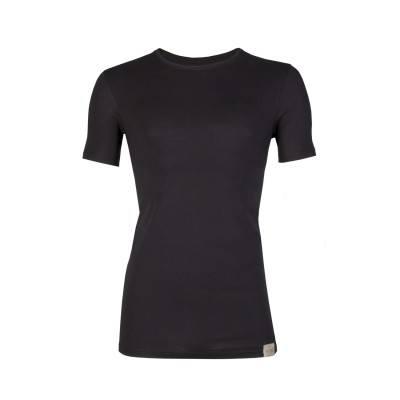 RJ Bodywear Good Life T Shirt Round Neck Black