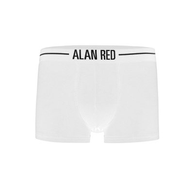 Alan Red Short Boxer 7013 White two pack