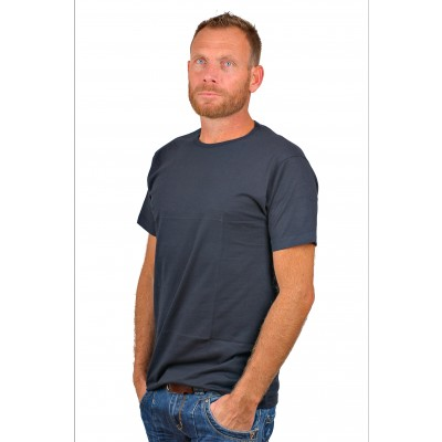 Alan Red T Shirt Derby Blue Two Pack Extra Long