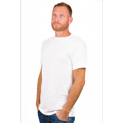 Alan Red T Shirt Derby Extra Long White Two Pack