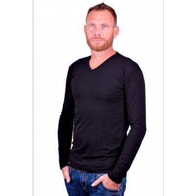 Alan Red t shirt Model Oslo Longsleeve Black