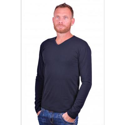 Alan Red t shirt Model Oslo Longsleeve Blue