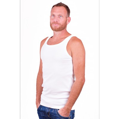 Alan Red Singlet Oakland White Two Pack
