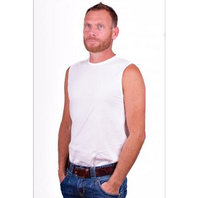 Alan Red Mouwloos Shirt Montana Wit 2 Pack