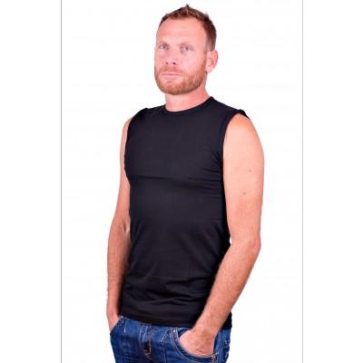 Alan Red Mouwloos Shirt Montana Zwart 2 Pack