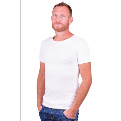 Alan Red T Shirt No O White two pack