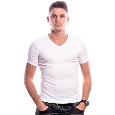 Beeren Men T-Shirt V-Hals Wit ( 3 pack) ( extra lang)