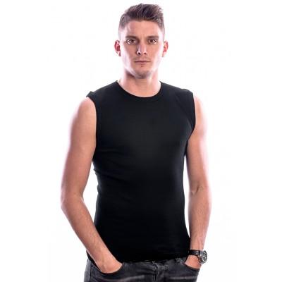 Beeren Bodywear Sleeveless Shirt Round Neck Black 3 pack