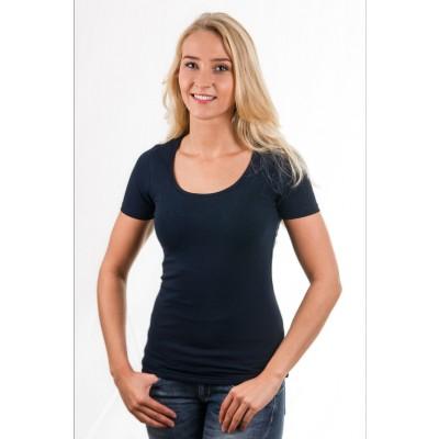 Garage Women T-Shirt Round Neck Navy