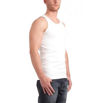 Garage singlet white. art nr ; 0401. 1 x 1 rib. 100 % katoen. gsm 230. sizes ; small   48 medium   50 large   ...