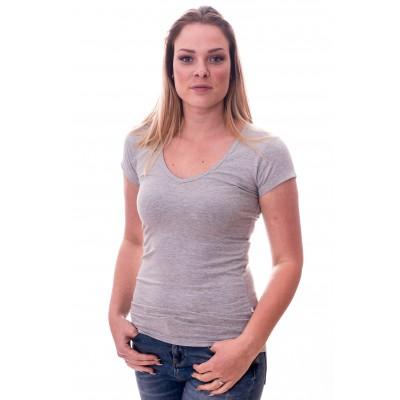 Claesens Women T-Shirt V-Neck s/s Grey ( cl 8010 )