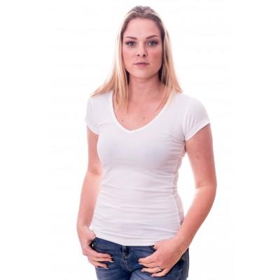 Claesens Women T-Shirt V-Neck s/s White ( cl 8010 )