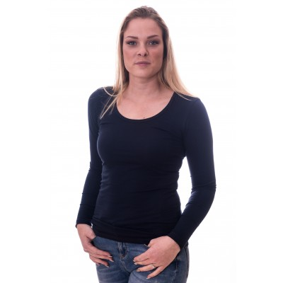 Claesens Women T-shirt o-neck longsleeve Navy Blue (8016)
