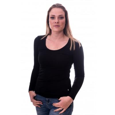Claesens Women T-shirt o-neck longsleeve Black( 8016)