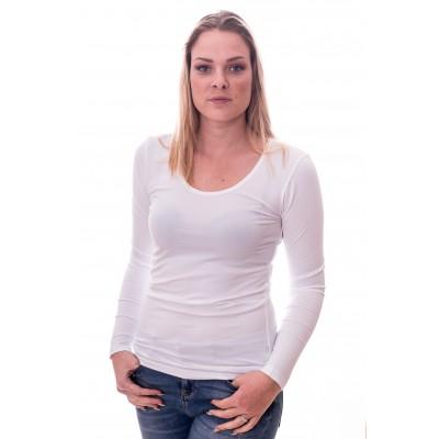 Claesens Women T-shirt o-neck longsleeve White ( 8016)
