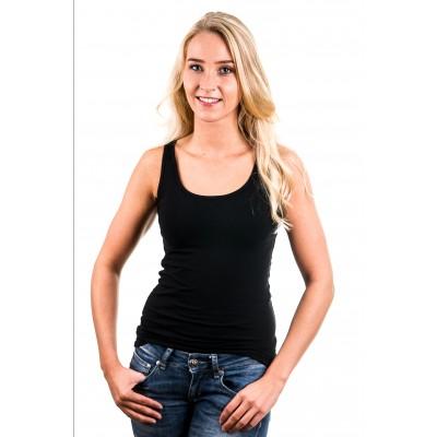 Garage Women Singlet Bodyfit Black ( 0703)