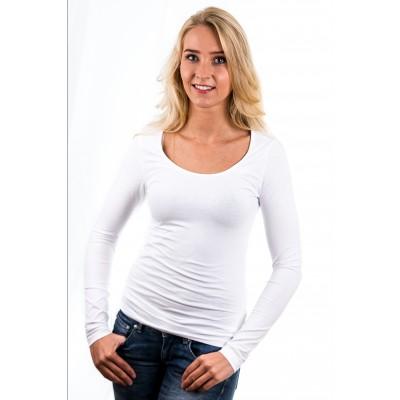 Garage Women Longsleeve T-Shirt Round Neck White ( art 0704)