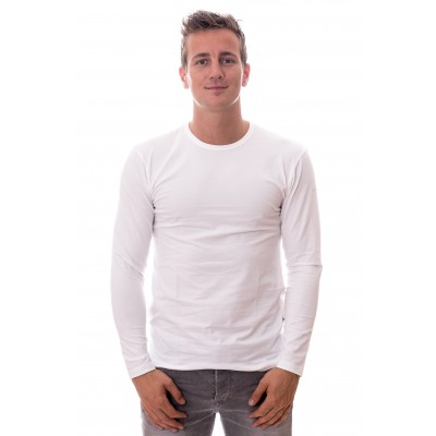 Claesens Longsleeve Round Neck White ( CL 1022)