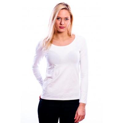RJ Bodywear Ladies T-Shirt Long Sleeves White