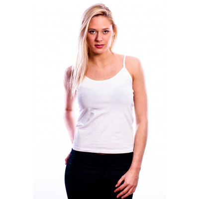 RJ Bodywear Ladies Top ( adjustable ) White