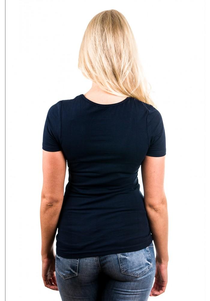 Garage T Shirt Ladies V Neck Navy Art 0702