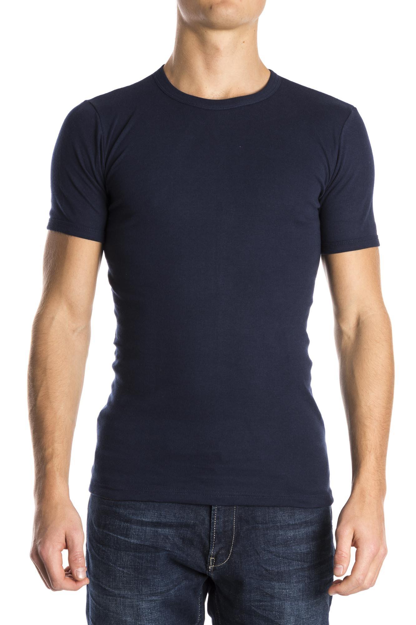 Men Ronde Pack Blauw T Shirt Hals Beeren 3 xfnSqC