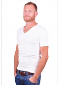 Alan Red T-Shirt No-V White ( two pack )