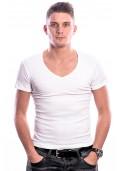 Beeren Men T-Shirt V-Hals Diep Wit