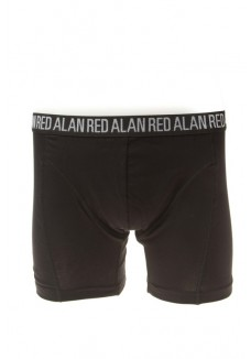 Alan Red Boxer Long Leg Black ( 3 pack )