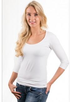 Alan Red Women T-shirt Romy White