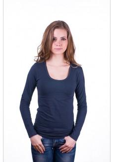 Claesens Women T-shirt o-neck longsleeve Navy Blue( 8016)