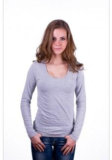 Claesens Women T-shirt o-neck longsleeve Grey ( 8016)