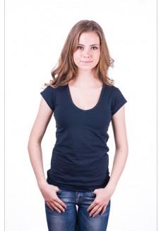 Claesens Women T-Shirt V-hals s/s Navy Blue ( cl 8010 )