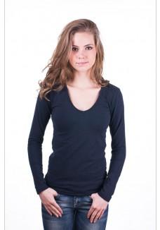 Claesens Women T-Shirt V-Neck l/s Blue ( 8011 )