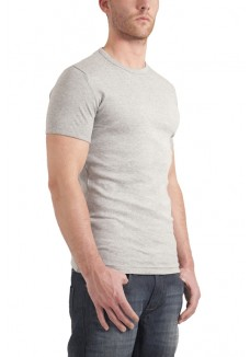 Garage T-shirt round neck bodyfit grey ( stretch )