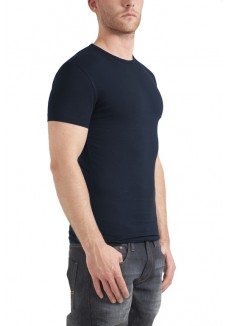 Garage T-shirt round neck bodyfit navy ( stretch)