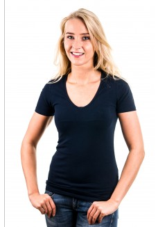 Garage T-Shirt Ladies V-Neck Navy