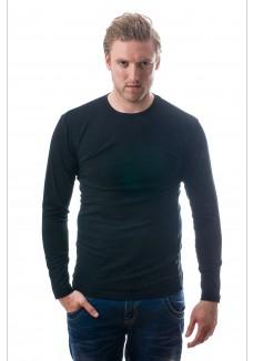 Claesens Men longsleeve O-neck Black ( CL 1022 )