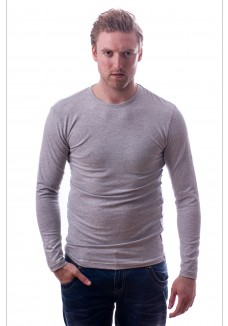 Claesens Longsleeve Round Neck Light Grey