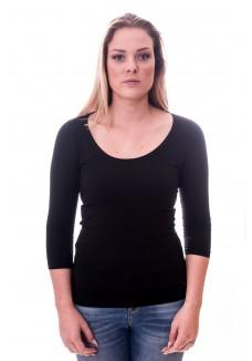 Alan Red Women T-shirt Romy Black