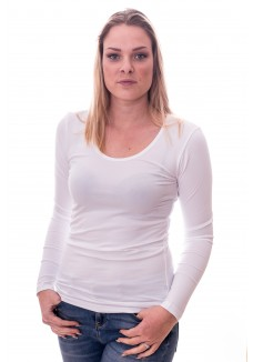 Claesens Women T-shirt o-neck longsleeve White( 8016)