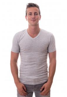 Claesens Stretch T-Shirt Grey V-neck  ( CL 1023)
