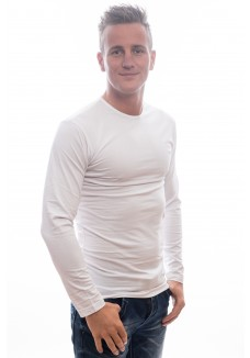 Slater T-Shirts Longsleeve wit