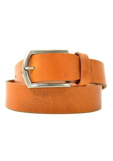 Petrol Leather Jeans Belt Cognac