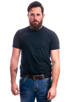 Slater Basic Fit T-Shirt Ronde hals blauw
