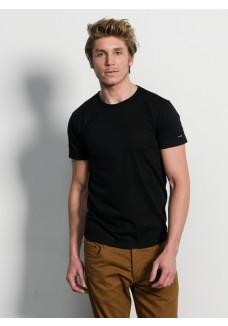 Slater Basic Fit T-Shirt Ronde hals zwart