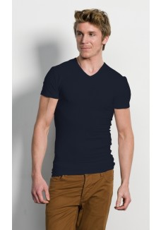 Slater V-neck blue navy