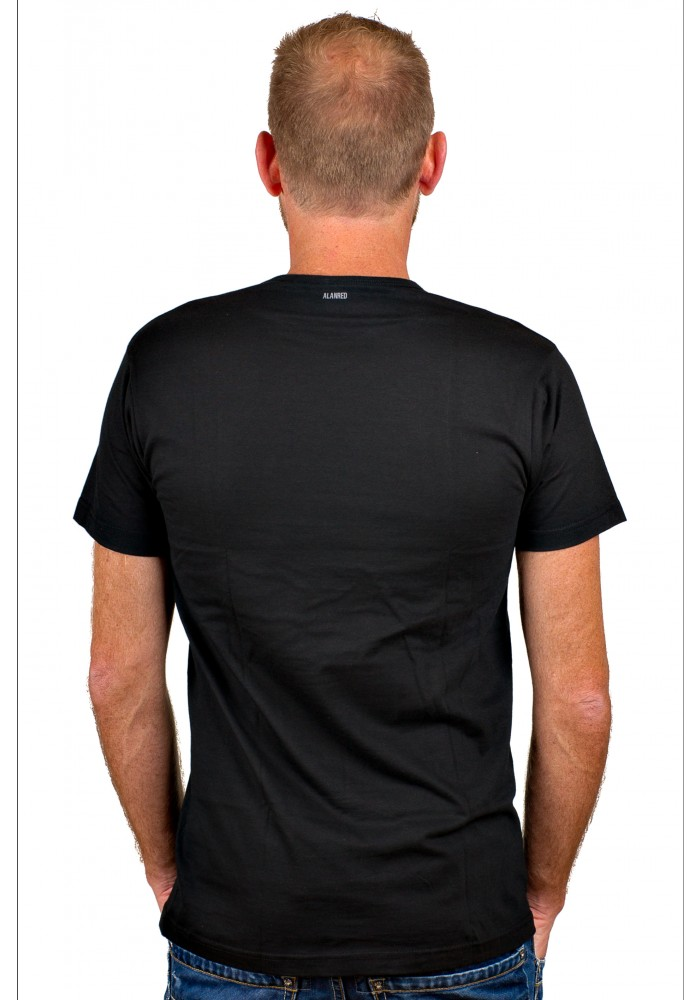 Alan Red T-Shirt Derby zwart
